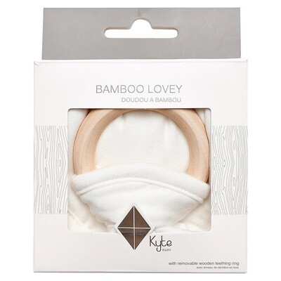 Kyte Lovey & Bamboo Teething Ring CLOUD