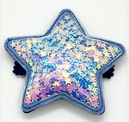 Bari Lynn Blue Confetti Star Clip