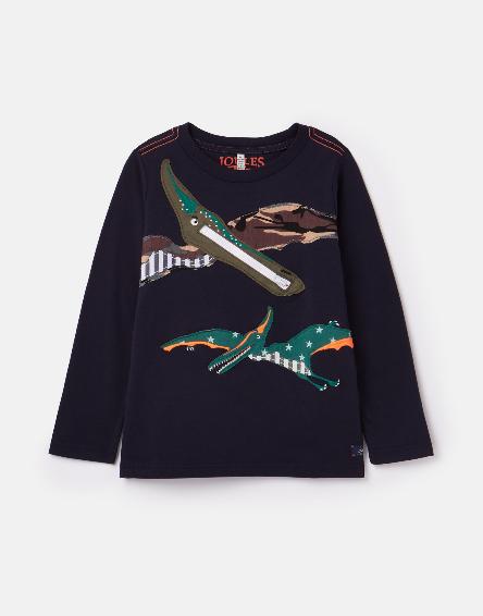 Joules Navy Dino Shirt 210647