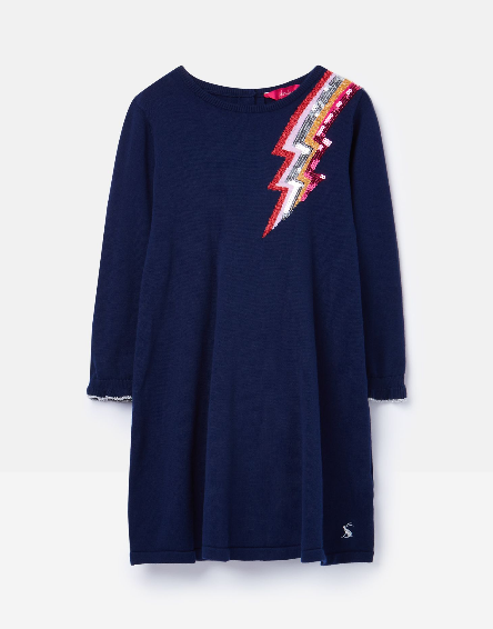 Joules Navy Lightning Dress 209439