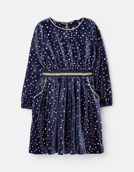 Joules Navy Stars Twirl Dress 209452
