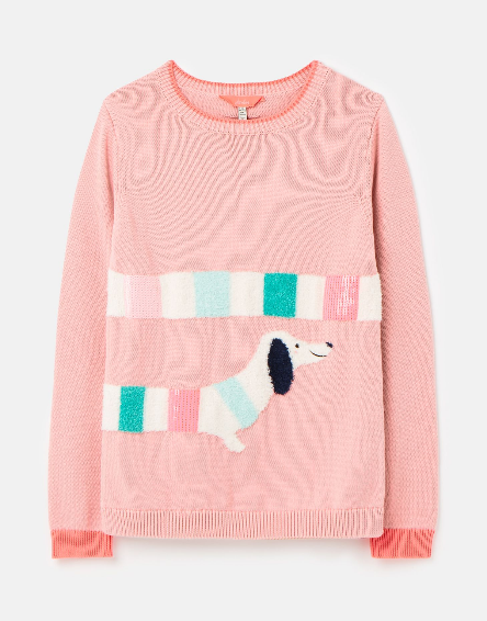 Joules Pink Dog Top 209428