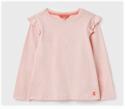 Joules Newberry Flutter Top (pink foil) 212821