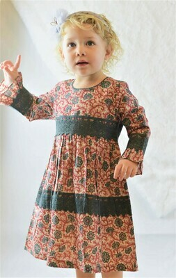Yo Baby Pink & Grey Lace Dress 1708