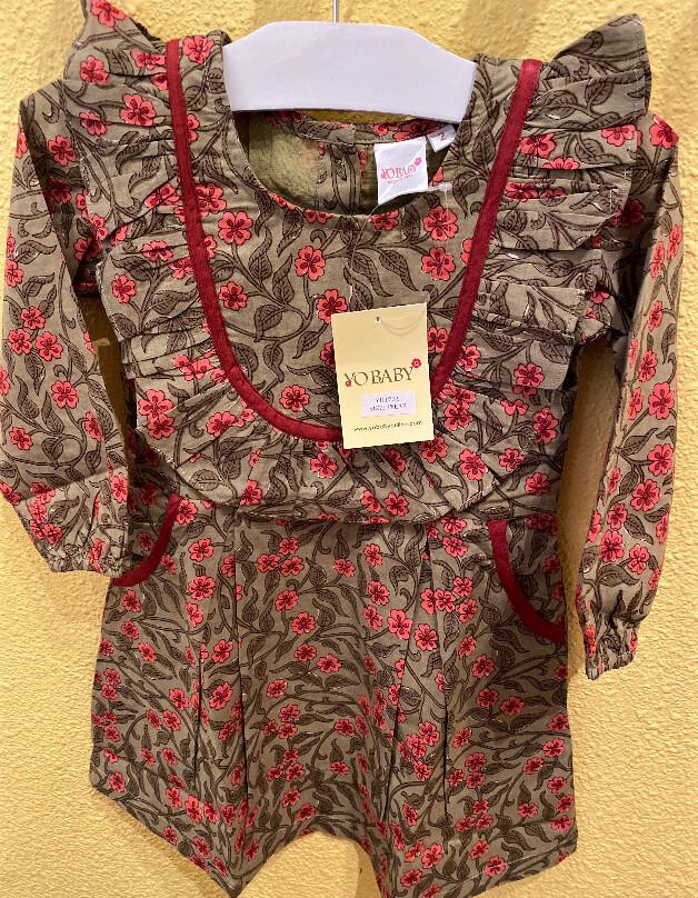 Yo Baby Smock Top Floral Dress 1731