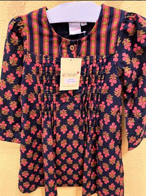 Yo Baby Navy/Pink Floral Dress 1791