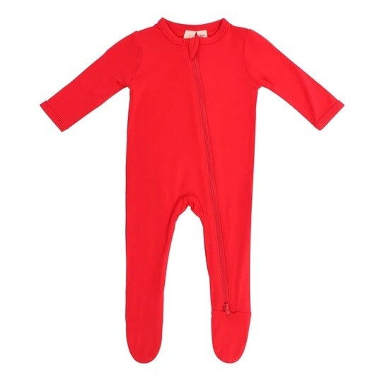 Kyte Zippered Footie in CRIMSON