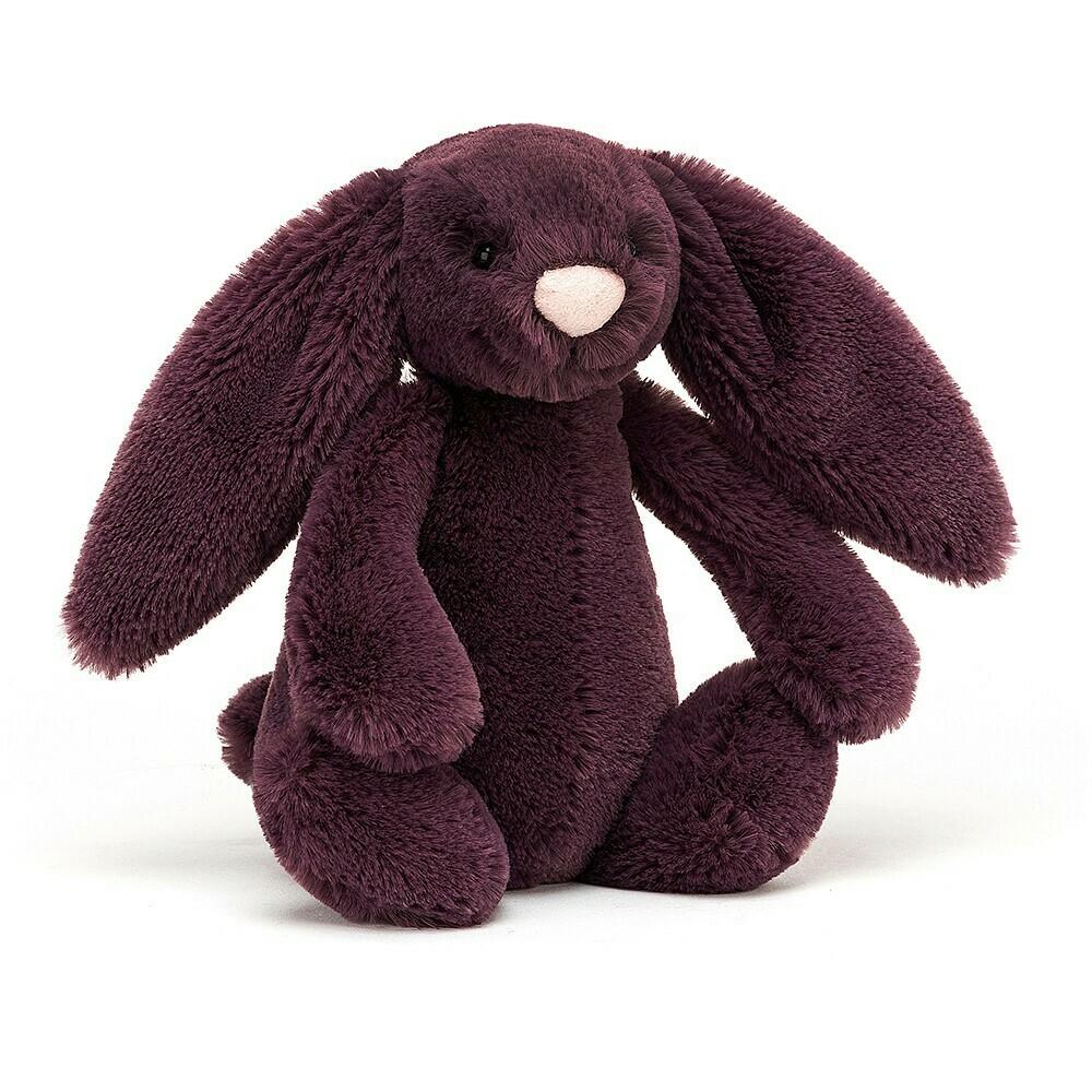 "JellyCat Bashful Plum Bunny Small 7"""