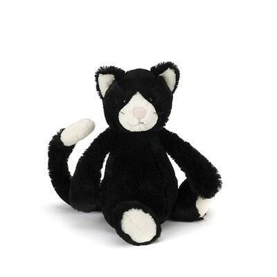 JellyCat Bashful Black & White Cat Medium 12""