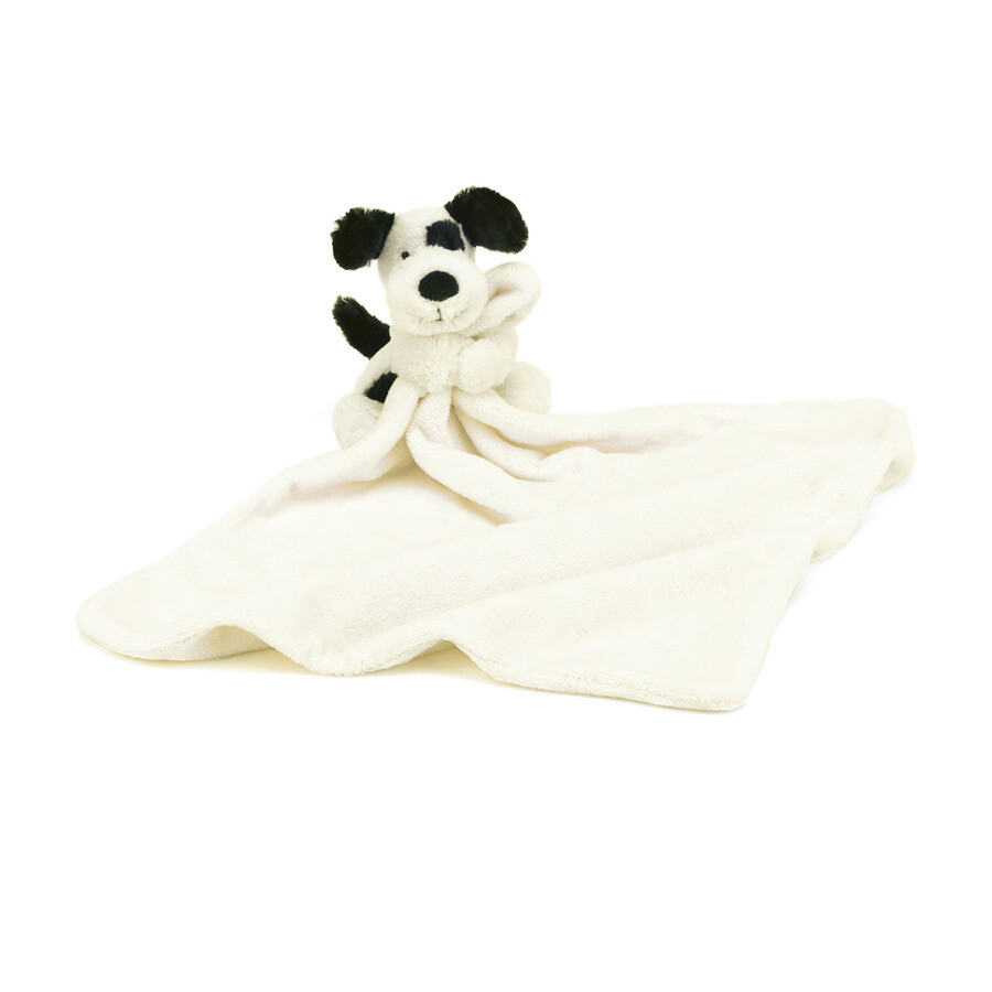 JellyCat Bashful Black & White Puppy Soother