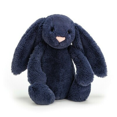 JellyCat Bashful Navy Bunny Medium 12""