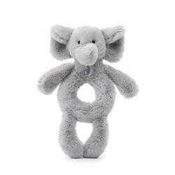Jellycat Grey Elephant Ring Rattle