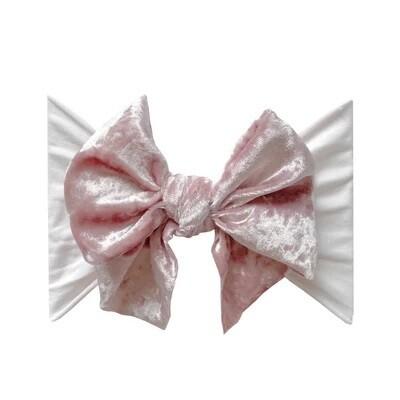 Baby Bling Velvet Fab Crushed Ballet Pink