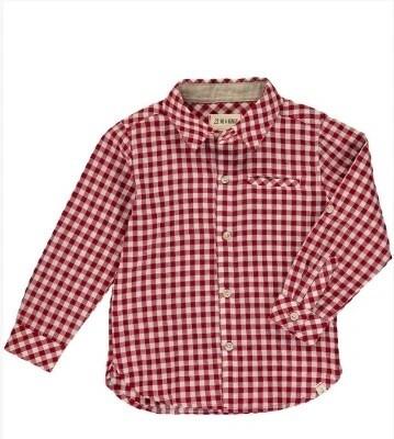 Me & Henry Rust/White Plaid Shirt HB561b
