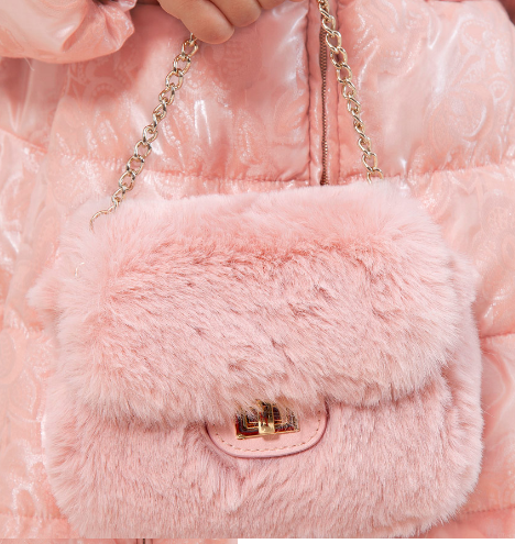 Abel & Lula Faux Fur Bag 5933 Rosa