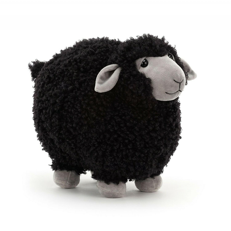 "Jellycat Rolbie Sheep Black Small 8"""