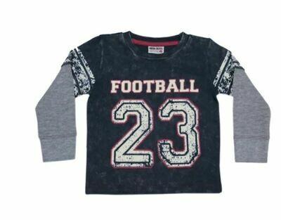 Mish Boys Football Tee Navy 787