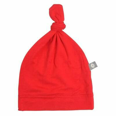 Kyte Knotted Cap in CRIMSON 0-3M