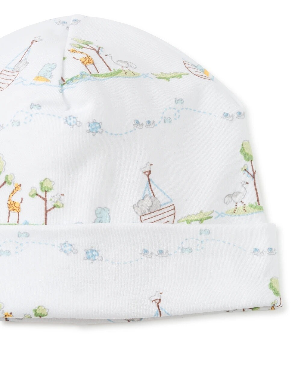 Kissy Kissy Noah's Print Hat PREEMIE Light Blue 35306P