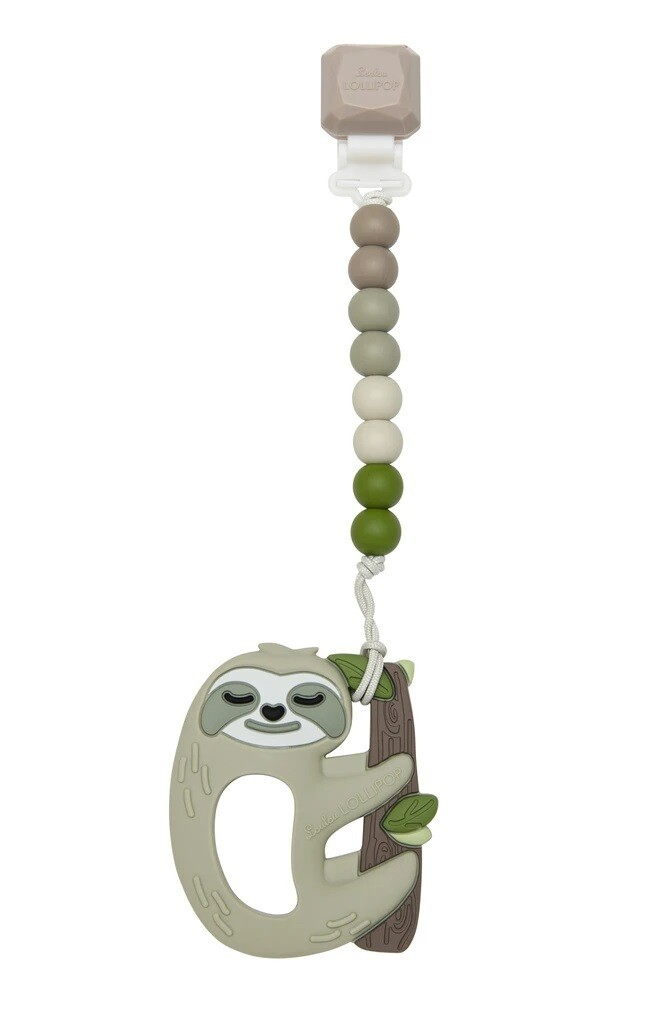 Loulou Lollipop Silicone Teether GEM Set Sloth