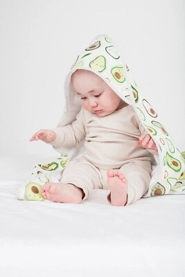 Loulou Lollipop Hooded Towel Set Avocado