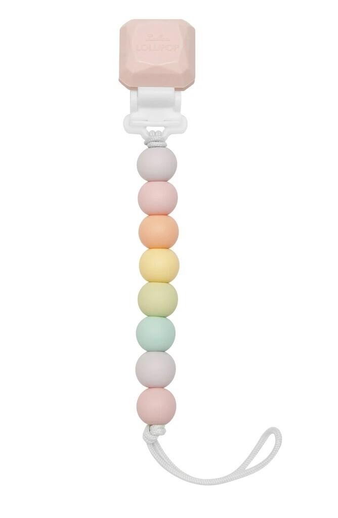 Loulou Lollipop Pacifier Clip Lolli Gem Cotton Candy