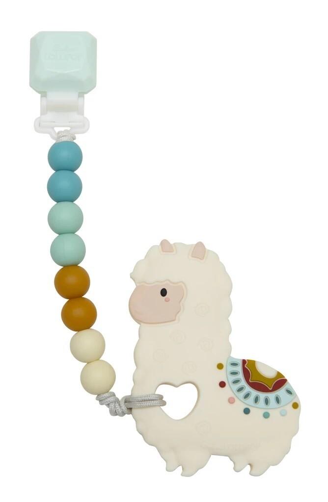 Loulou Lollipop Silicone Teether GEM Set Llama