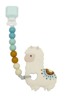 Loulou Lollipop Silicone Teether GEM Set Llama