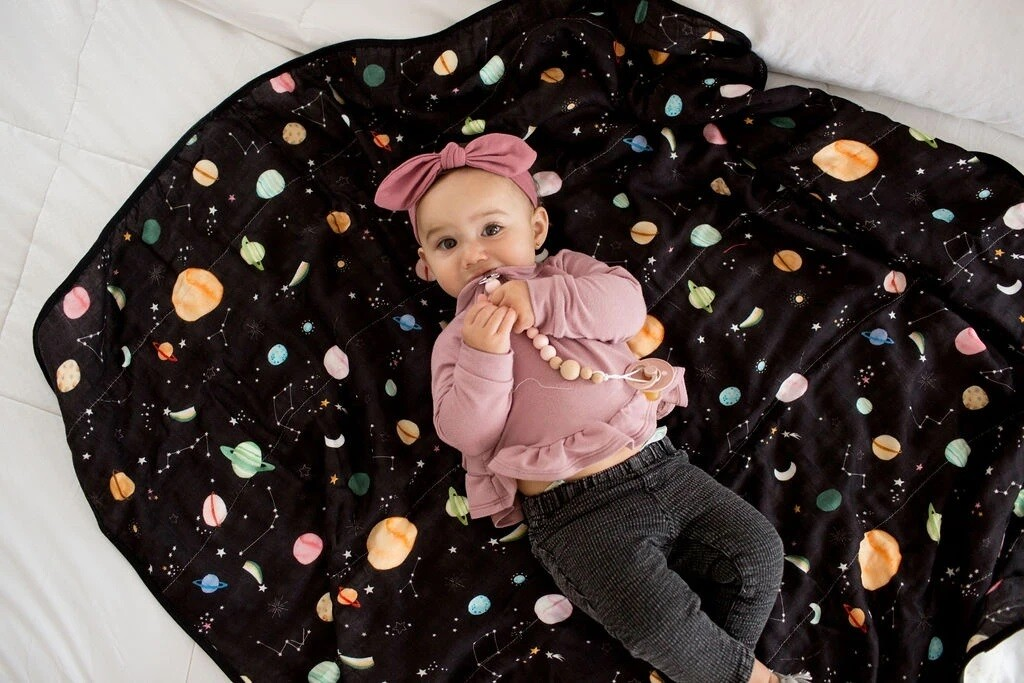 Loulou Lollipop Swaddle Planets