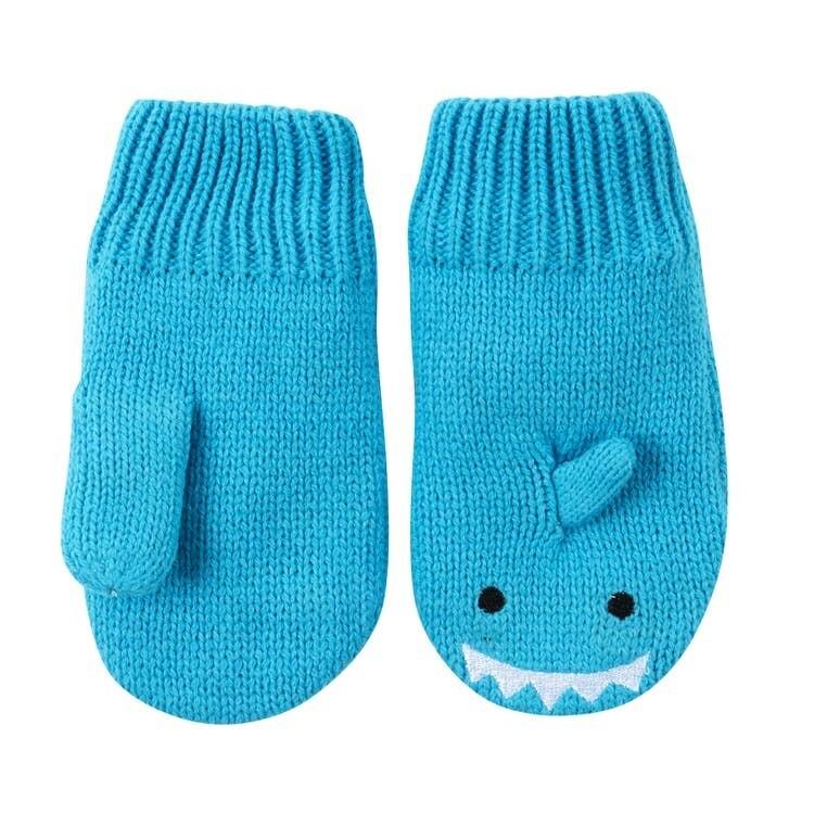 Zoocchini Baby Knit Mittens Shark 12-24M