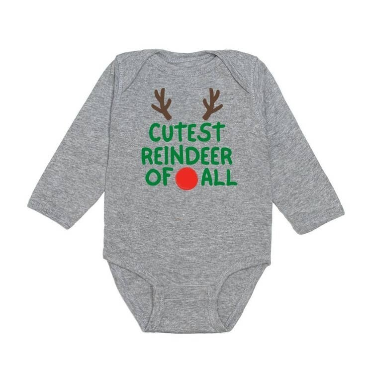 Sweet Wink Cutest Reindeer L/S Onesie