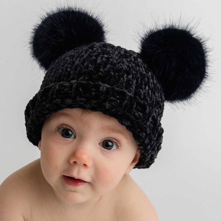 Midnight Chenille Hat