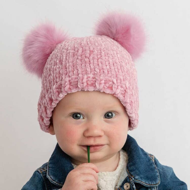 Rosy Chenille Hat