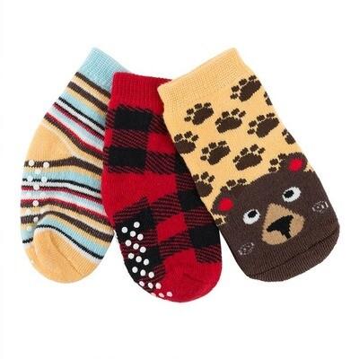 ZooCChini Bosley Bear Baby Sock Set 0-24M