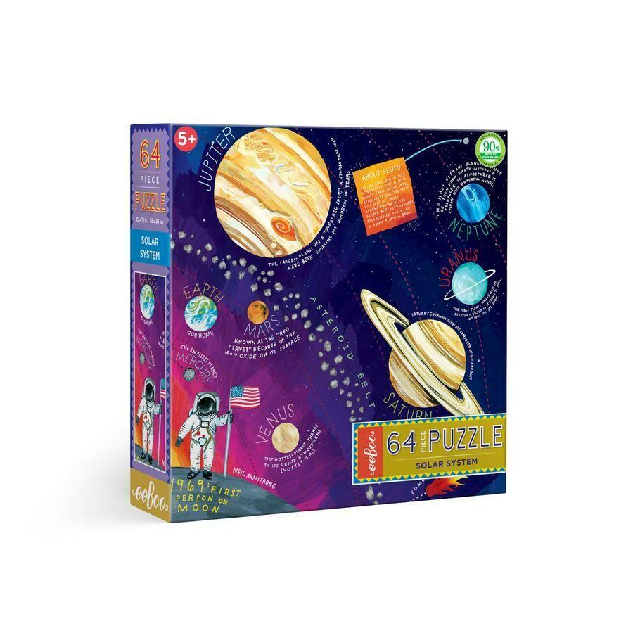 eeBoo Solar System 64 Pc Puzzle