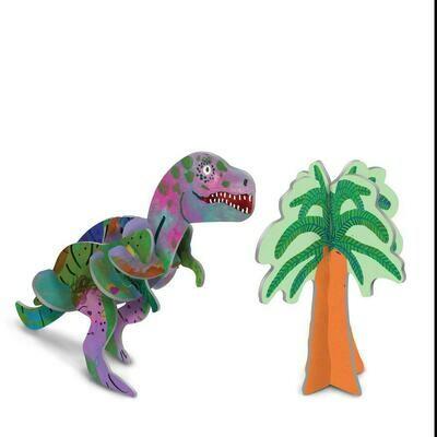 eeBoo 3D Glow In The Dark Tyrannosaurus Rex