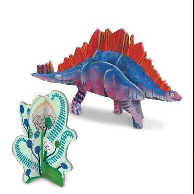 eeBoo 3D Glow In The Dark Stegosaurus