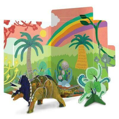 eeBoo 3D Glow In The Dark Triceratops