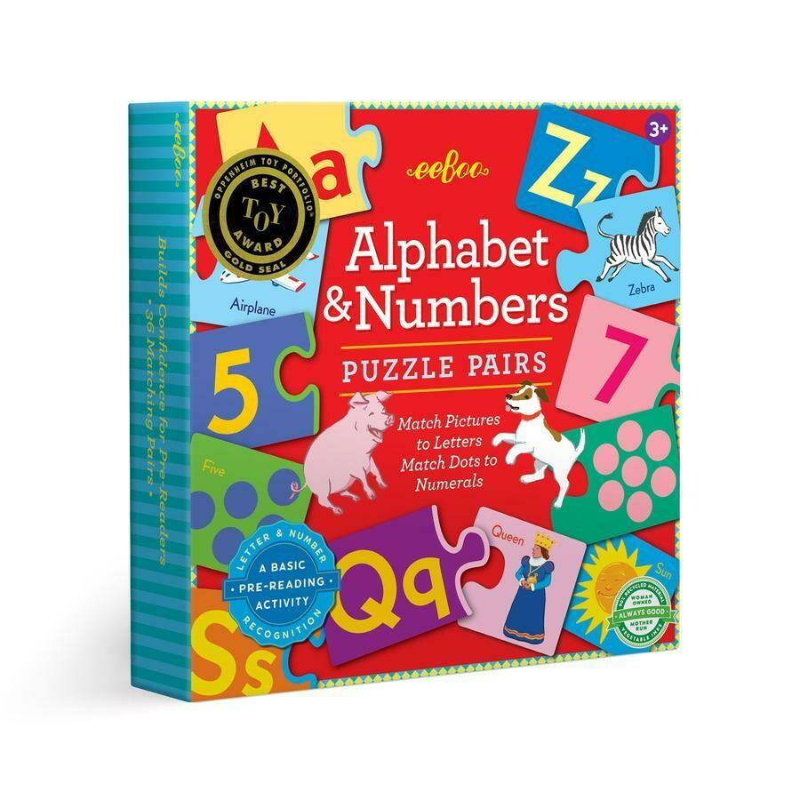 eeBoo Alphabet & Numbers Puzzle Pairs