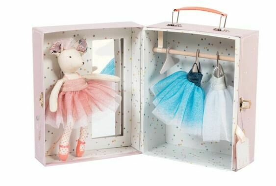 Moulin Roty Ballerina Mouse Valise 8pc Set