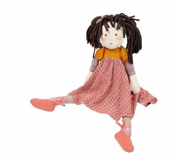 "Moulin Roty Les Rosalies Prunelle Doll 18"""
