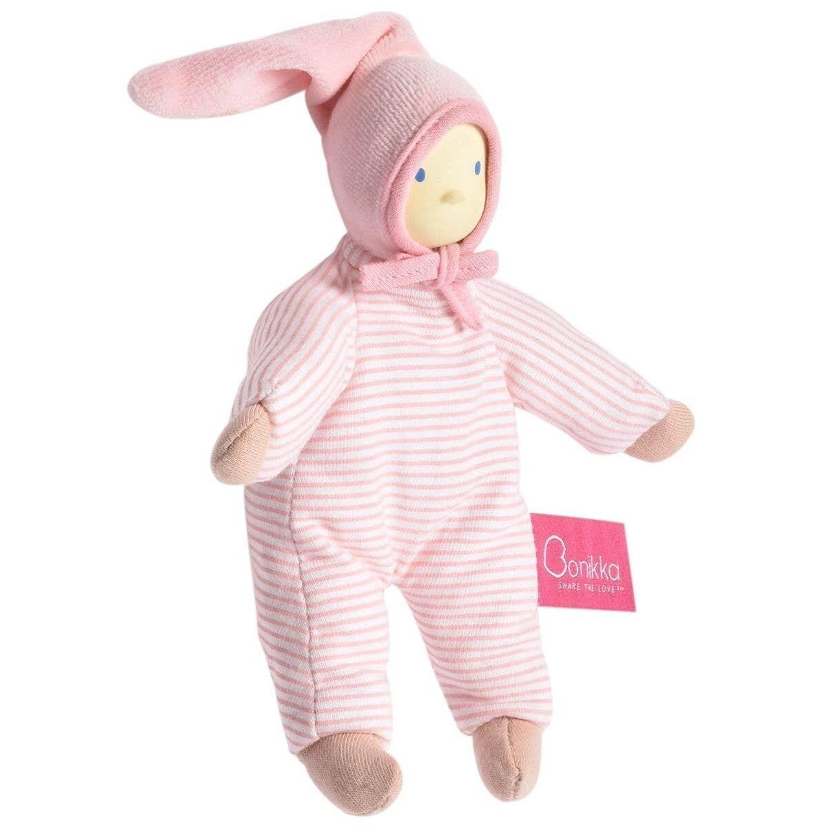 "Tikiri Seraphine Pink Stripe Doll 7"""