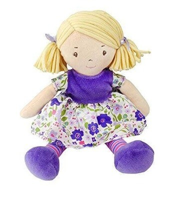 Tikiri Lil Peggy Doll Blond Hair With Lilac & Pink Dress