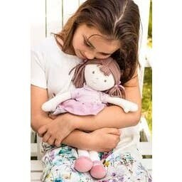 Tikiri Brook- Doll With Brown Hair and Pink Dress