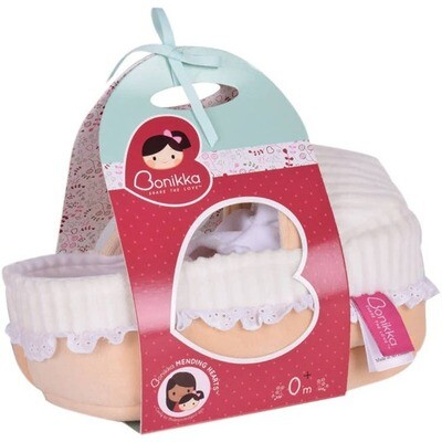 Tikiri Carry Cot With Baby Grace,Bottle & Blanket