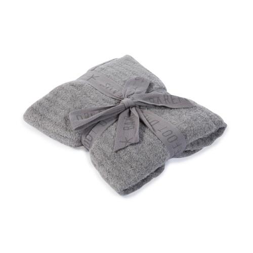 BareFoot Dreams Cozy Lite Ribbed Blanket Pewter B467