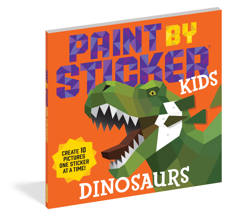 Paint By Sticker Kids- Dinosaurs