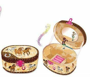 Hot Focus Musical Jewelry Box Dashing Horse