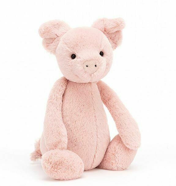 """Jellycat Bashful Pig Small 7"""""""