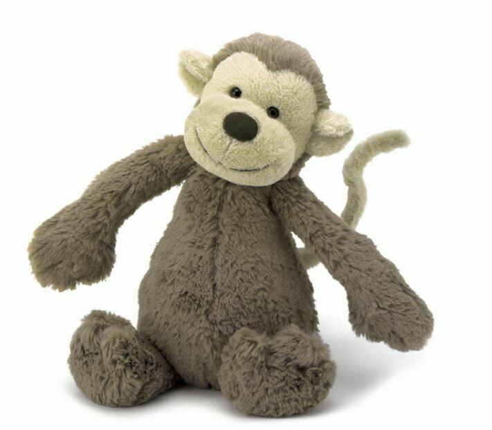 """Jellycat Bashful Monkey Small 7"""""""